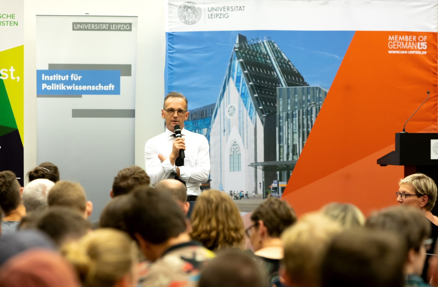 Heiko Maas in der Universitätsbibliothek Albertina