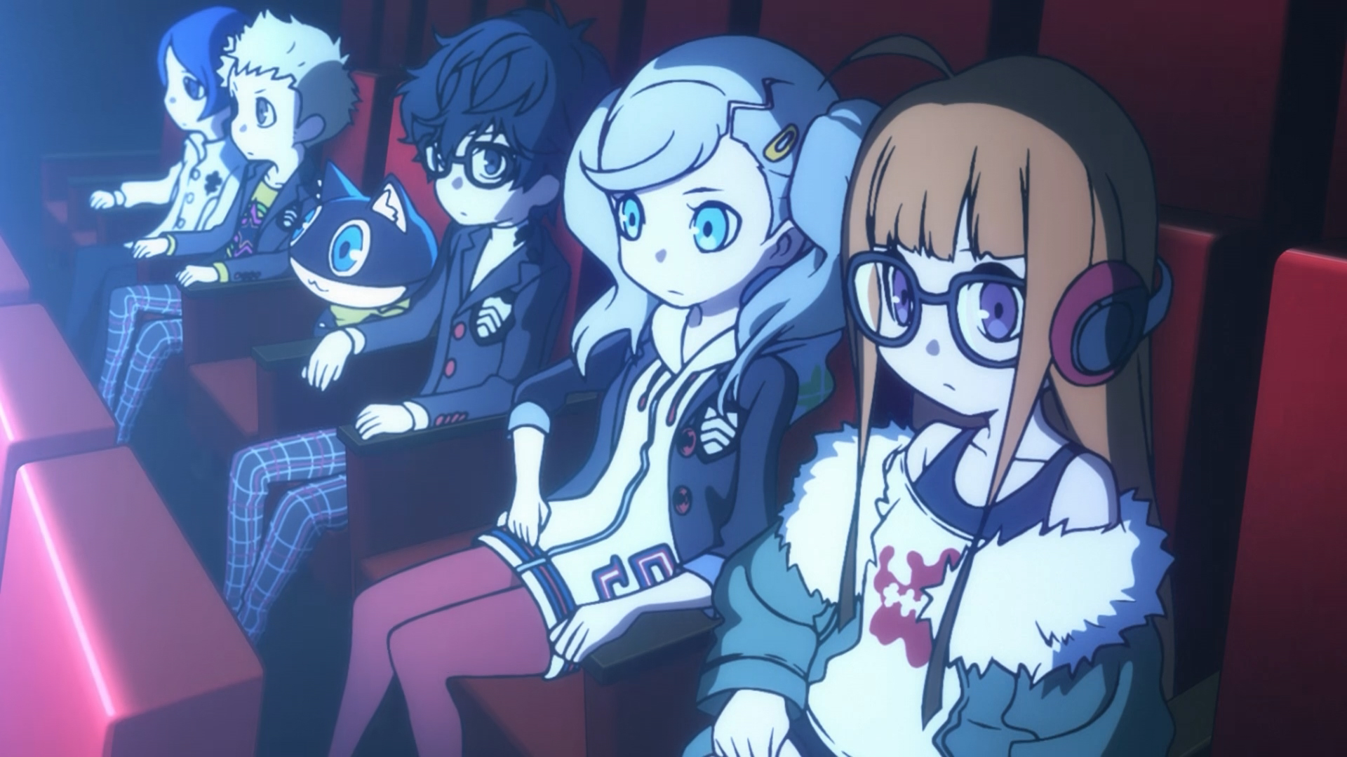 Die Hauptcharaktere von Persona Q2: New Cinema Labyrinth