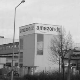 Das Amazon Logistikzentrum in Leipzig.