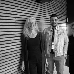 "Elke Sasse, Amjad AL-Tokan und Janine Dauterich von ""The War on my Phone"""