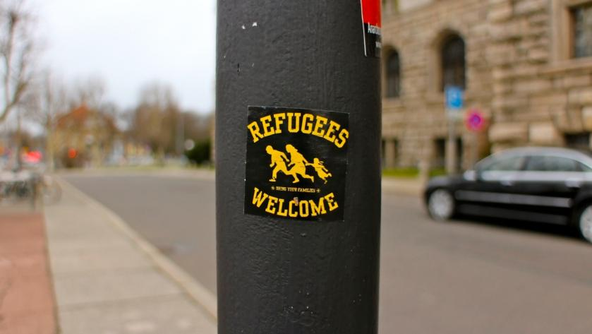 Logo mit Refugees are Welcome